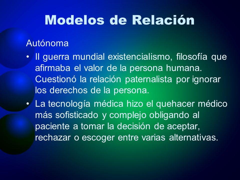 Modelos de Relación Autónoma