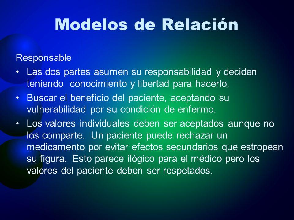 Modelos de Relación Responsable
