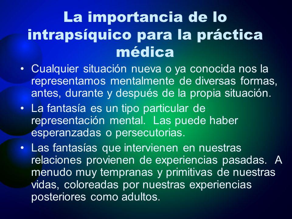 La importancia de lo intrapsíquico para la práctica médica