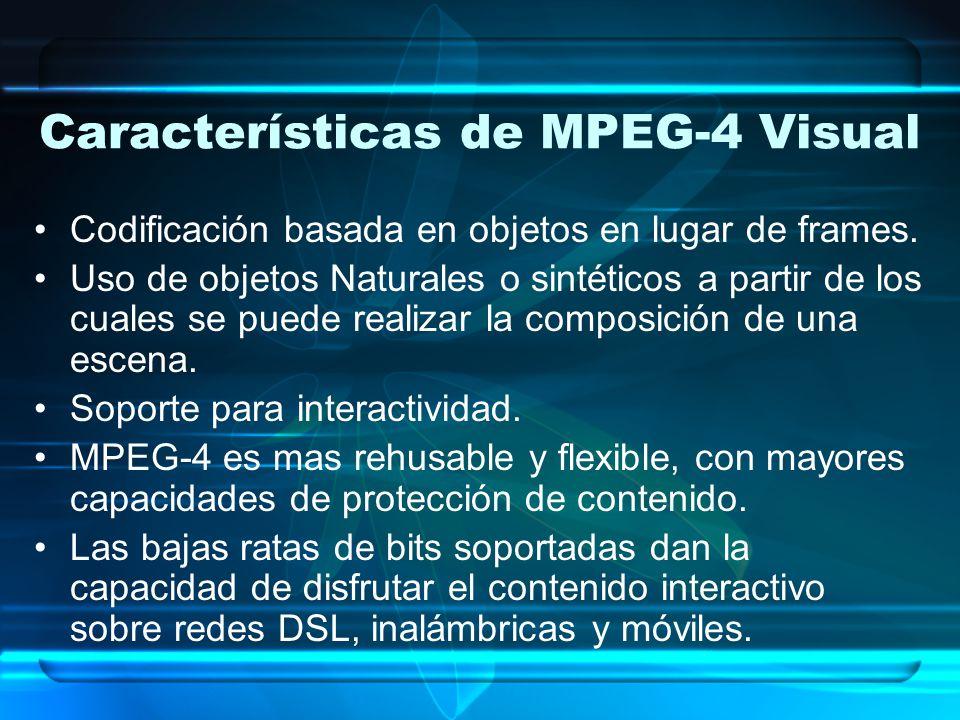 Características de MPEG-4 Visual