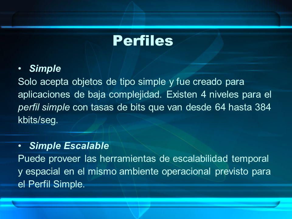 Perfiles Simple Solo acepta objetos de tipo simple y fue creado para