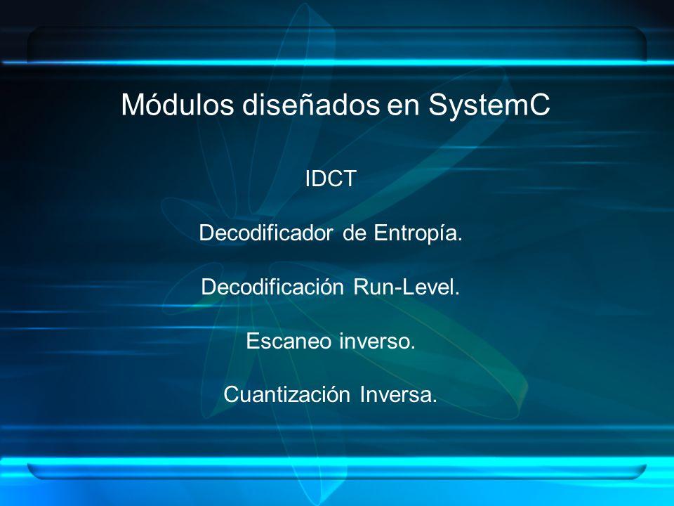 Módulos diseñados en SystemC