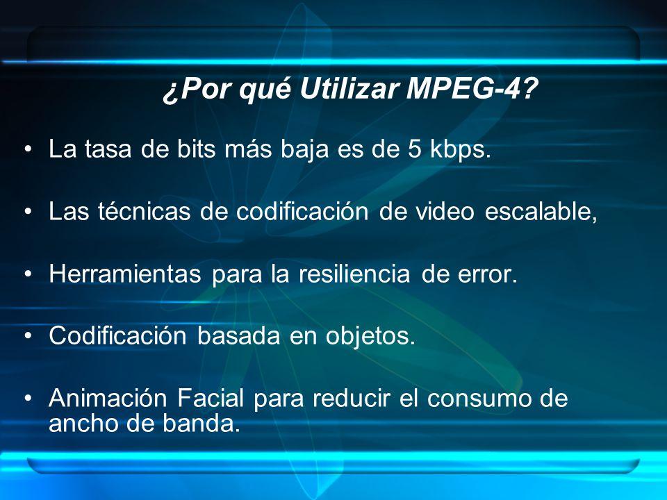 ¿Por qué Utilizar MPEG-4