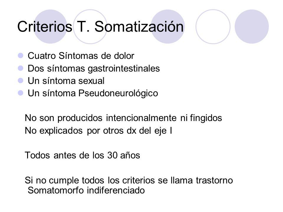 Criterios T. Somatización