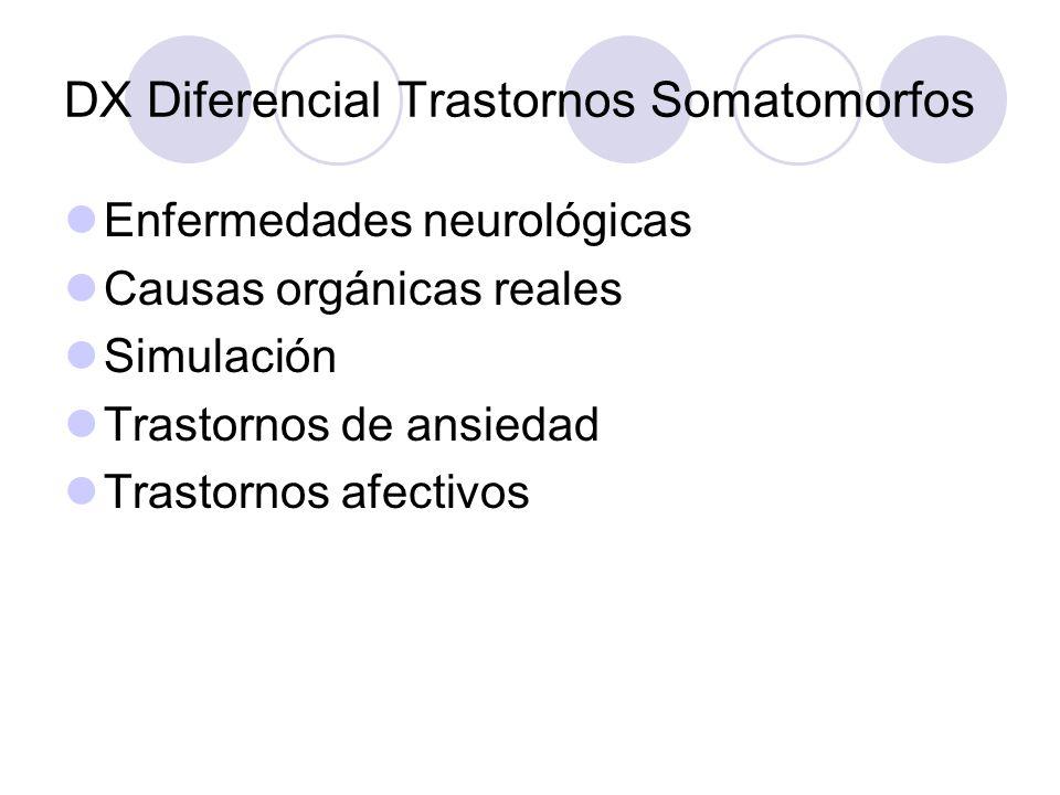 DX Diferencial Trastornos Somatomorfos