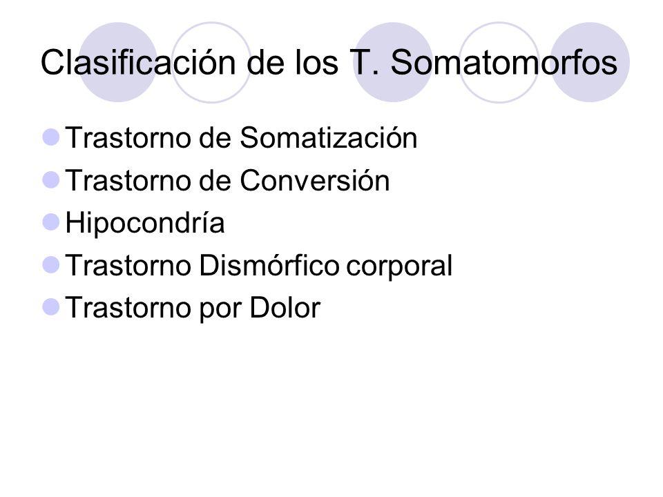 Clasificación de los T. Somatomorfos