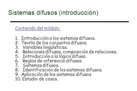 Sistemas difusos (introducción)