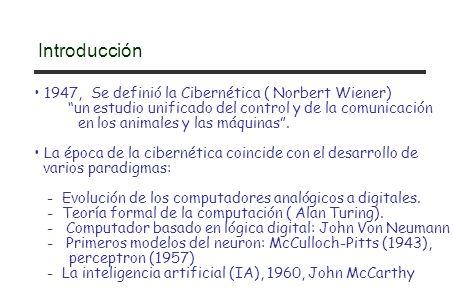 Introducción 1947, Se definió la Cibernética ( Norbert Wiener)