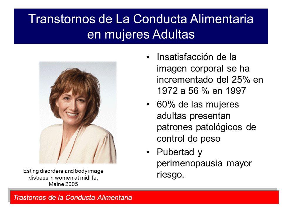 Transtornos de La Conducta Alimentaria en mujeres Adultas