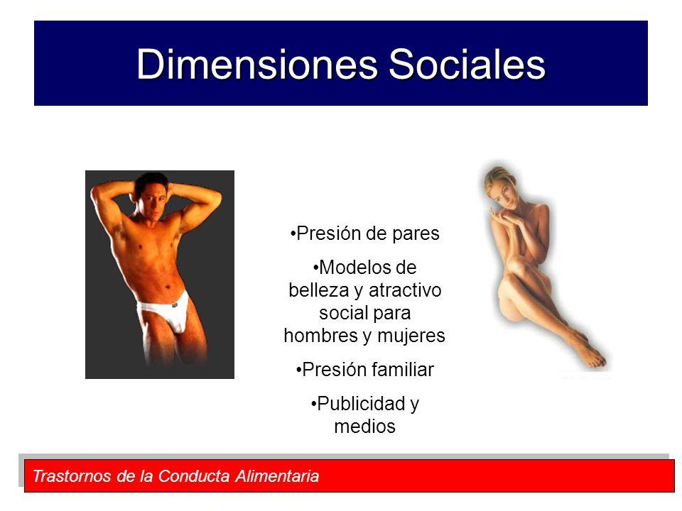 Modelos de belleza y atractivo social para hombres y mujeres