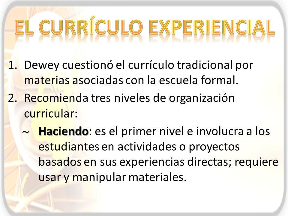 El currículo experiencial