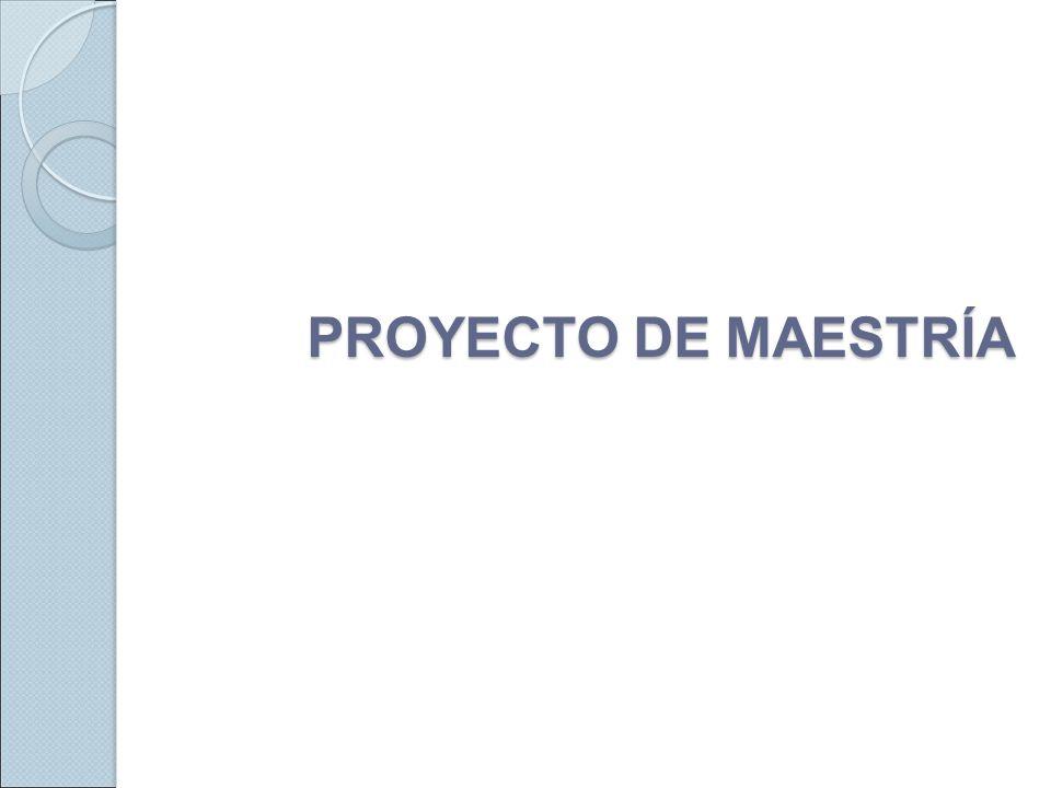 Proyecto de Maestría