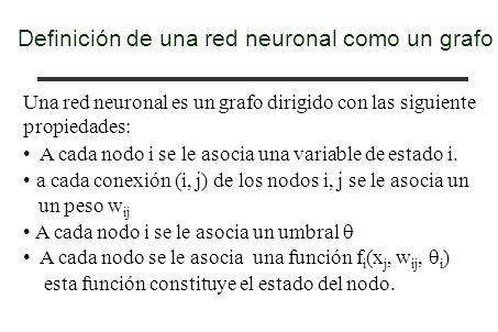 Definición de una red neuronal como un grafo