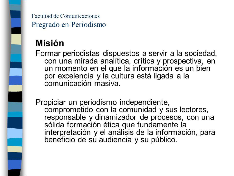 Facultad de Comunicaciones Pregrado en Periodismo