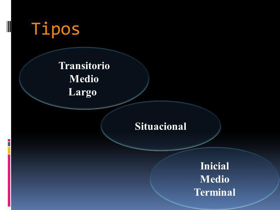 Tipos Transitorio Medio Largo Situacional Inicial Medio Terminal