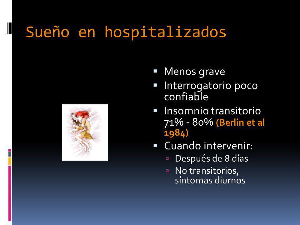 Sueño en hospitalizados