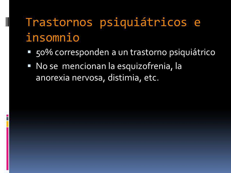 Trastornos psiquiátricos e insomnio