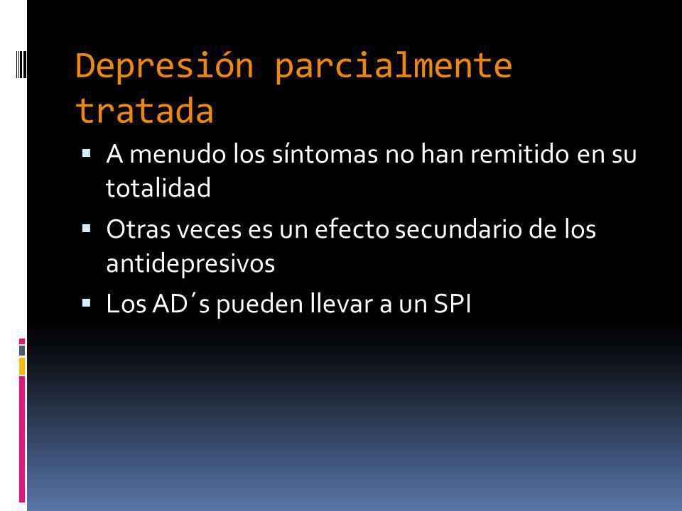 Depresión parcialmente tratada