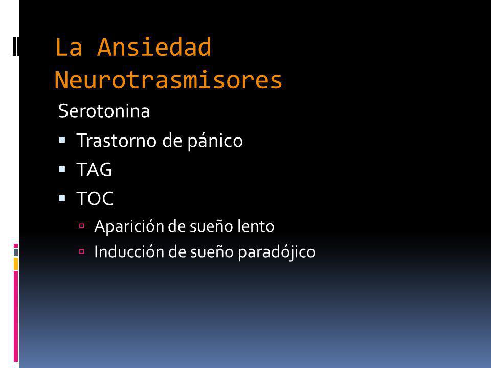 La Ansiedad Neurotrasmisores
