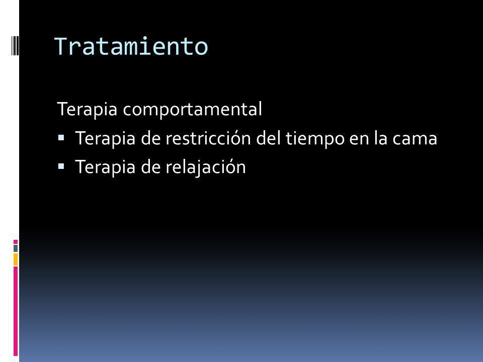 Tratamiento Terapia comportamental