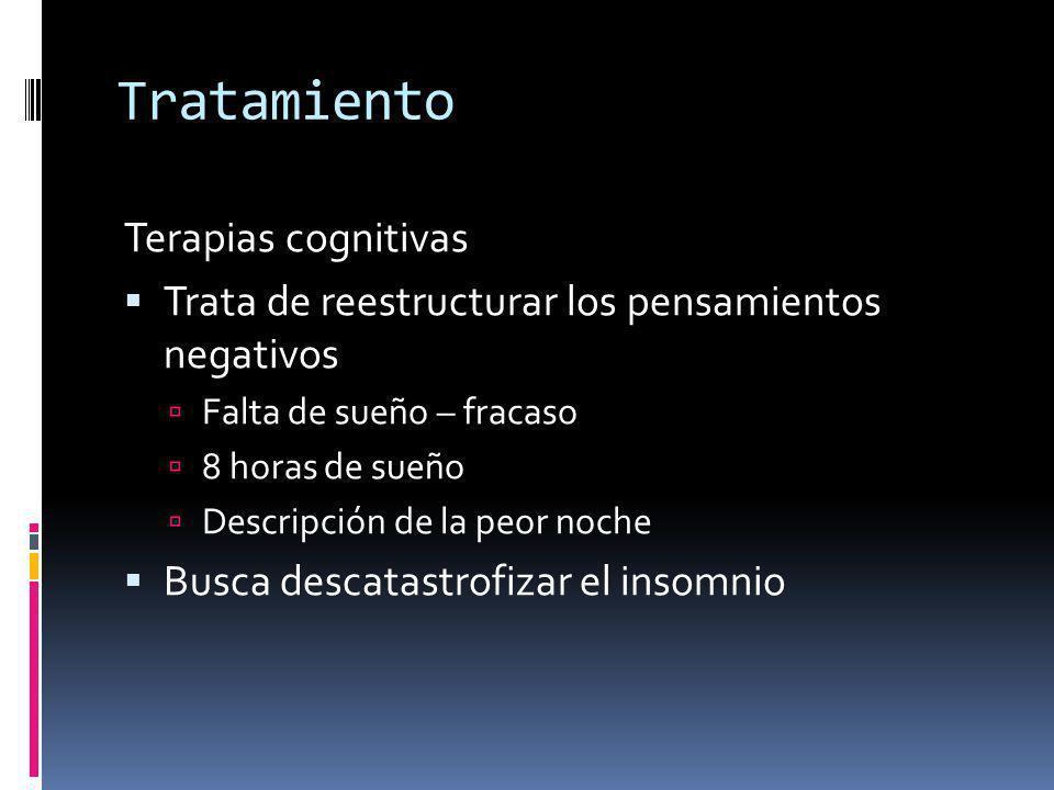 Tratamiento Terapias cognitivas
