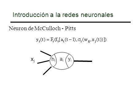 Introducción a la redes neuronales