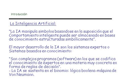 La Inteligencia Artificial: