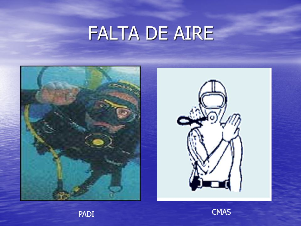 FALTA DE AIRE CMAS PADI