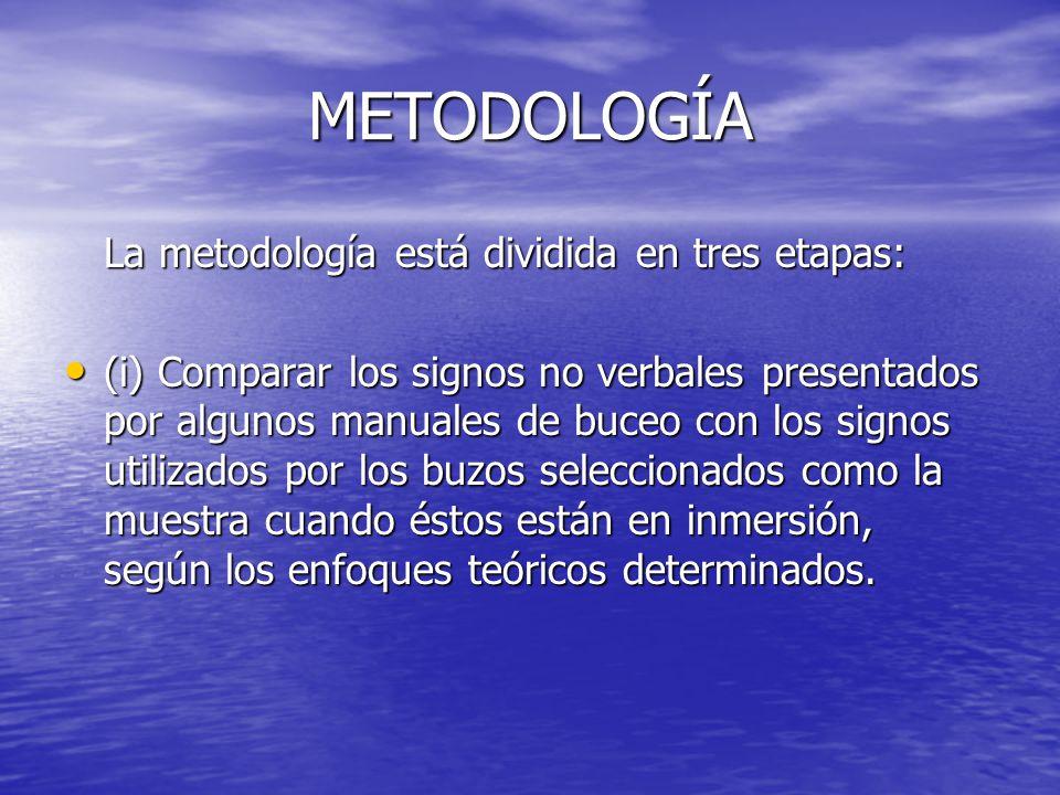 METODOLOGÍA La metodología está dividida en tres etapas: