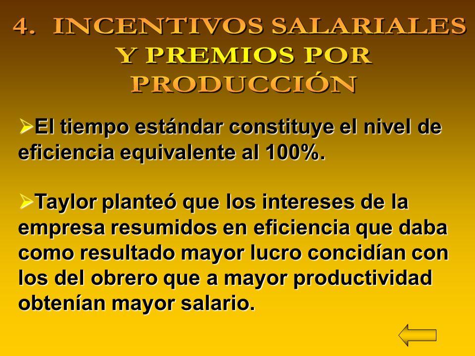 4. INCENTIVOS SALARIALES