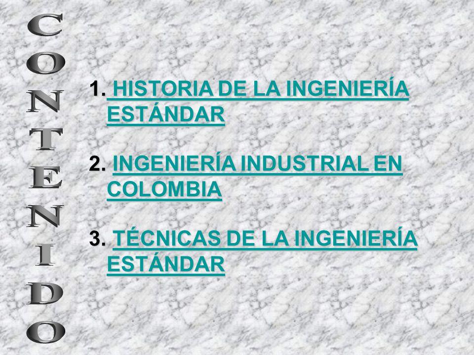 CONTENIDO HISTORIA DE LA INGENIERÍA ESTÁNDAR