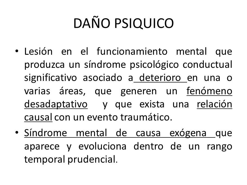DAÑO PSIQUICO