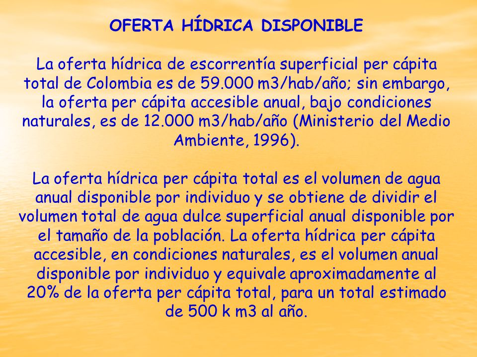 OFERTA HÍDRICA DISPONIBLE