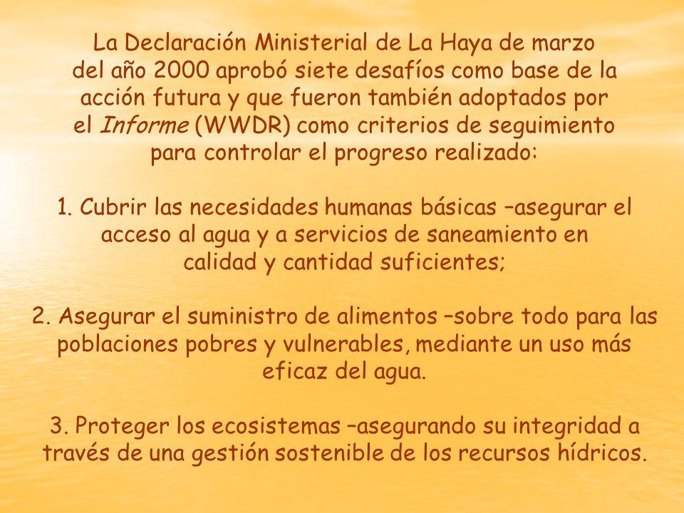 La Declaración Ministerial de La Haya de marzo