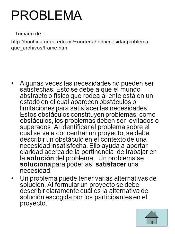 PROBLEMA Tomado de : http://bochica. udea. edu