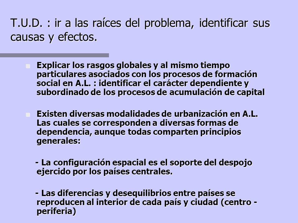 T.U.D. : ir a las raíces del problema, identificar sus causas y efectos.
