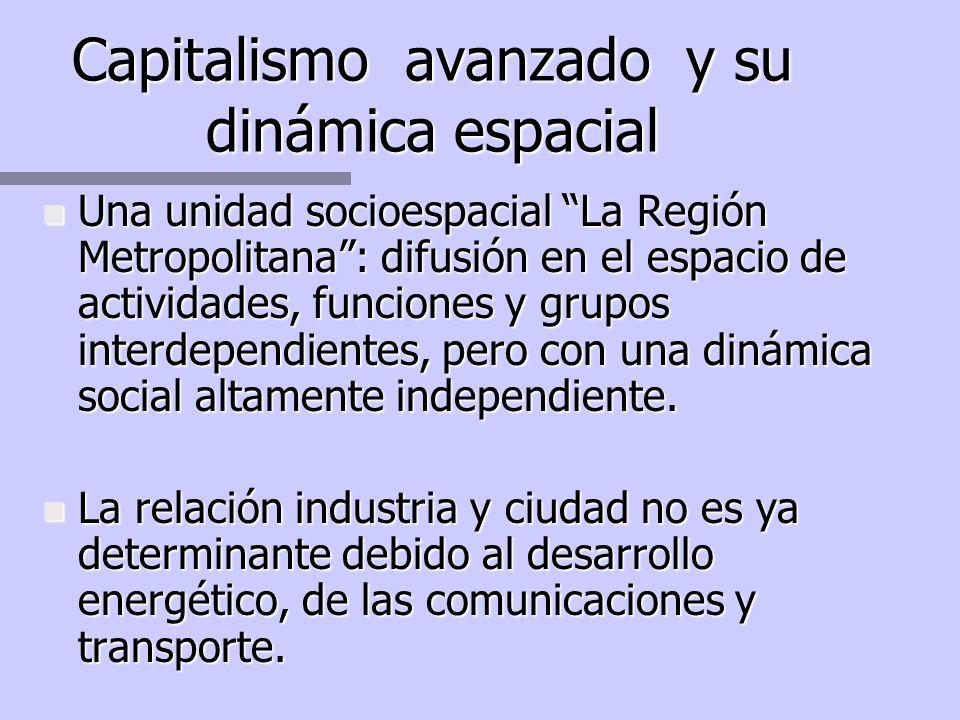 Capitalismo avanzado y su dinámica espacial