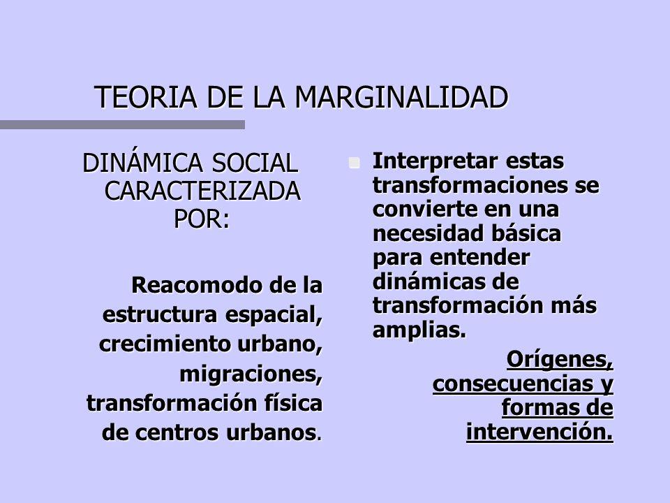 TEORIA DE LA MARGINALIDAD