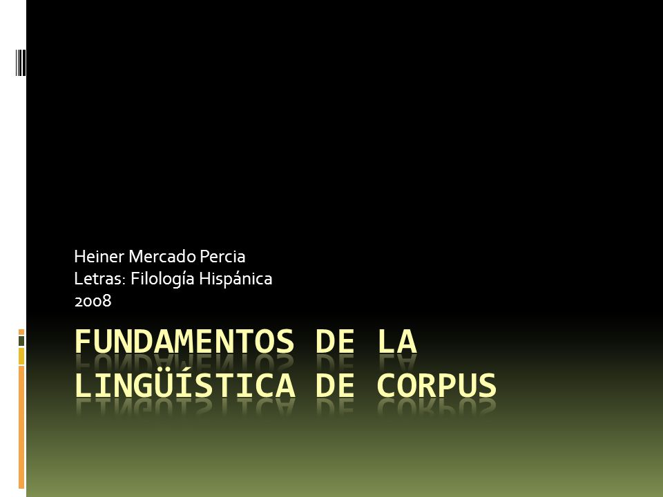 Fundamentos de la lingüística de corpus