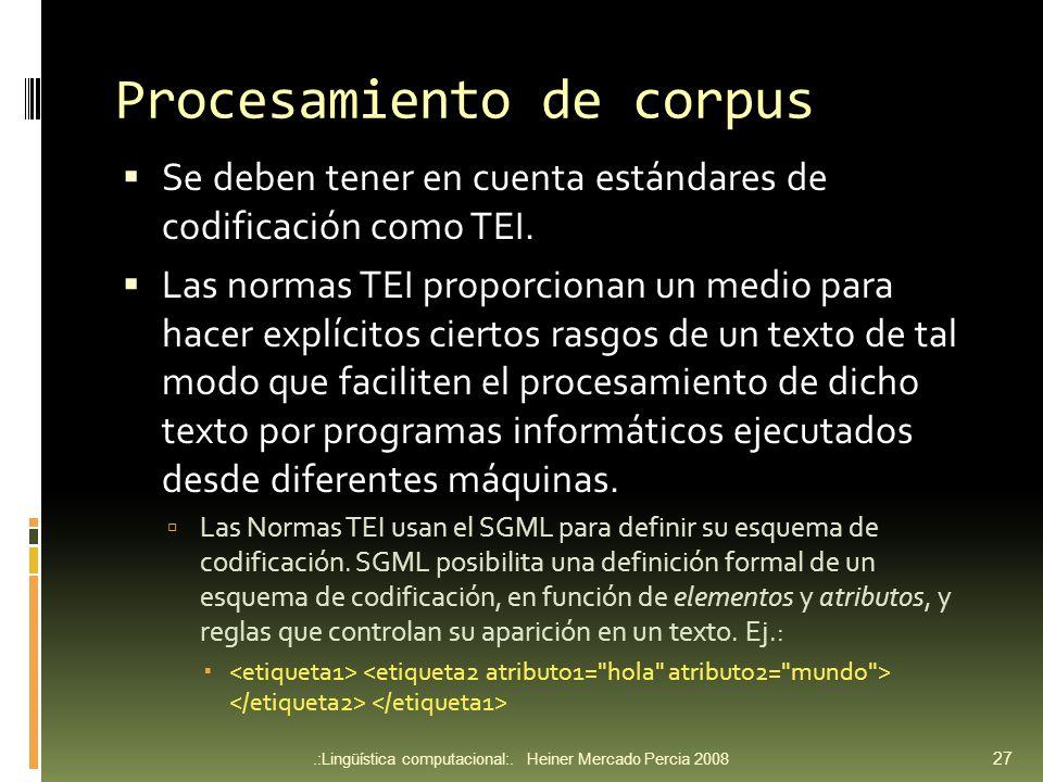 Procesamiento de corpus