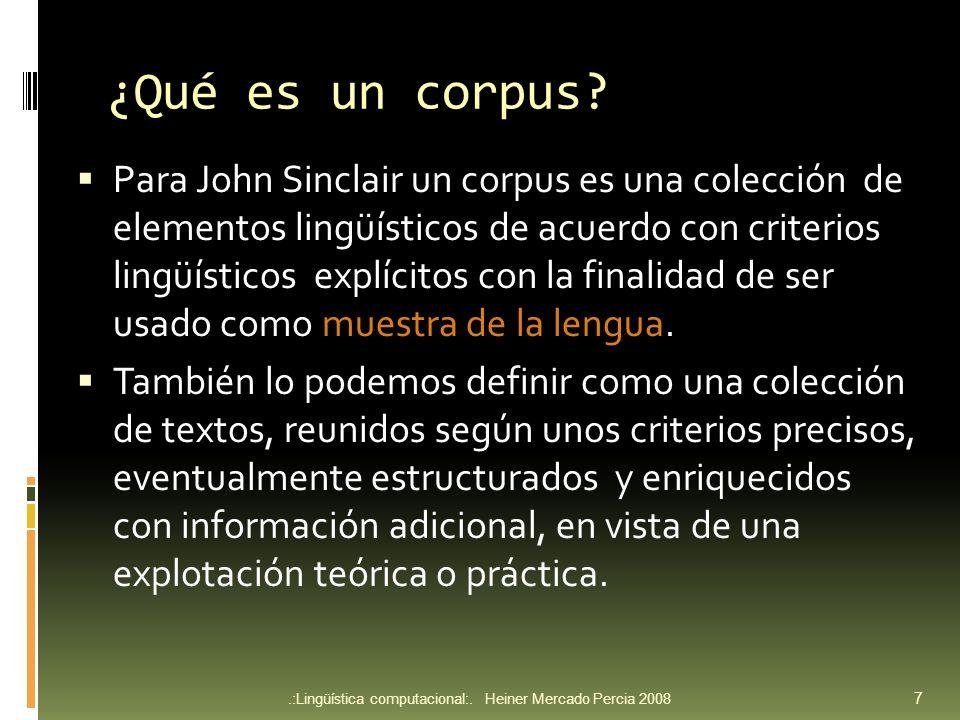 ¿Qué es un corpus