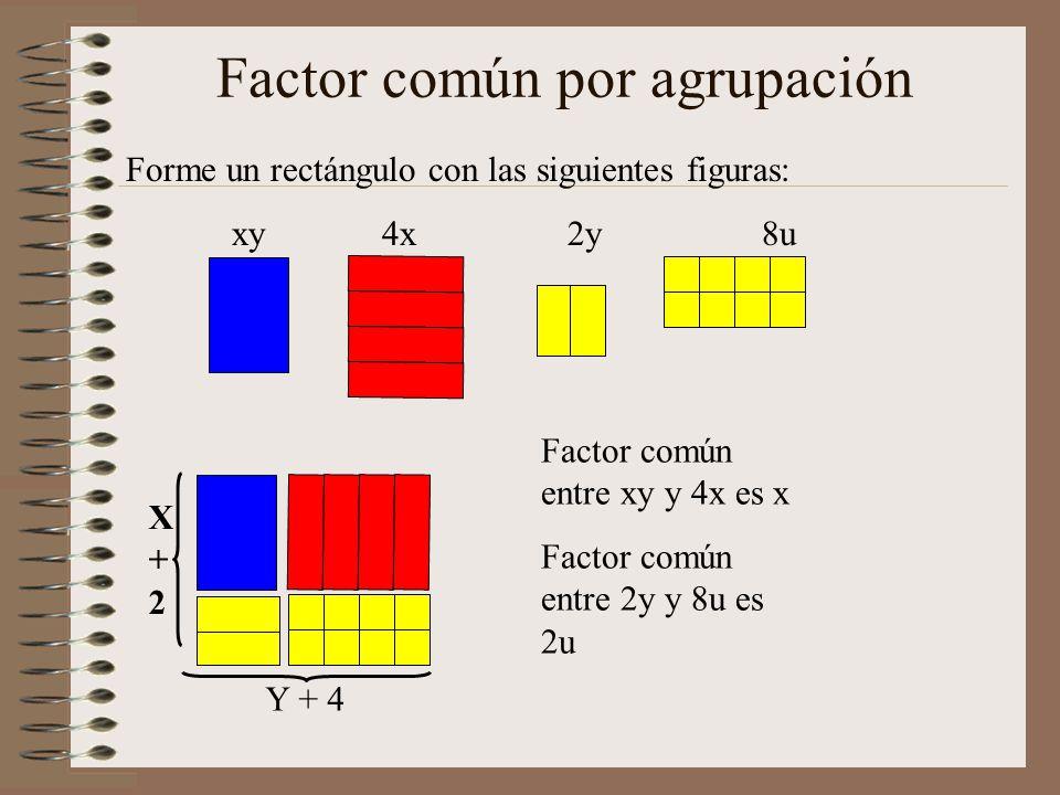 Factor común por agrupación