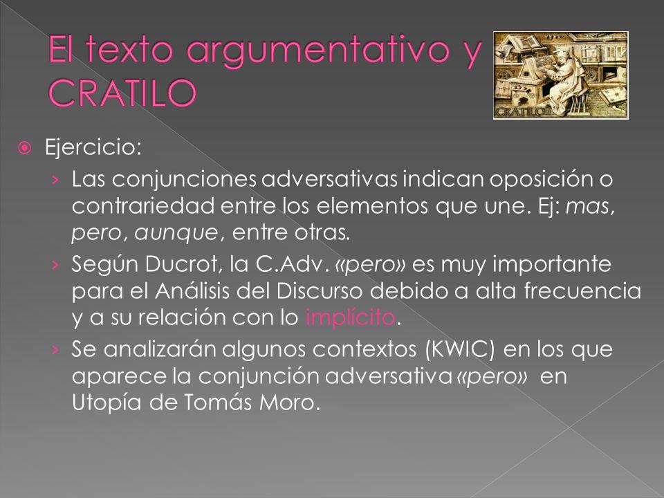 El texto argumentativo y CRATILO