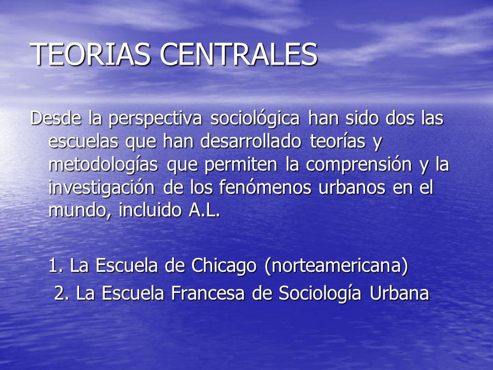 TEORIAS CENTRALES