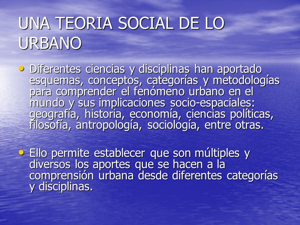 UNA TEORIA SOCIAL DE LO URBANO