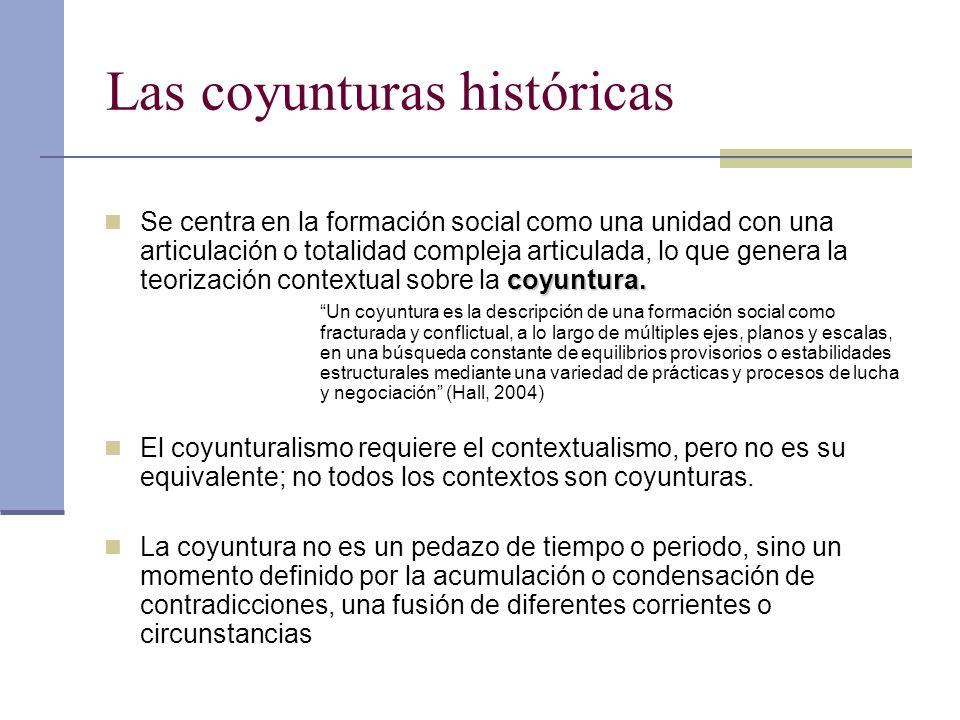 Las coyunturas históricas