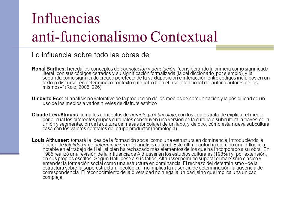 Influencias anti-funcionalismo Contextual