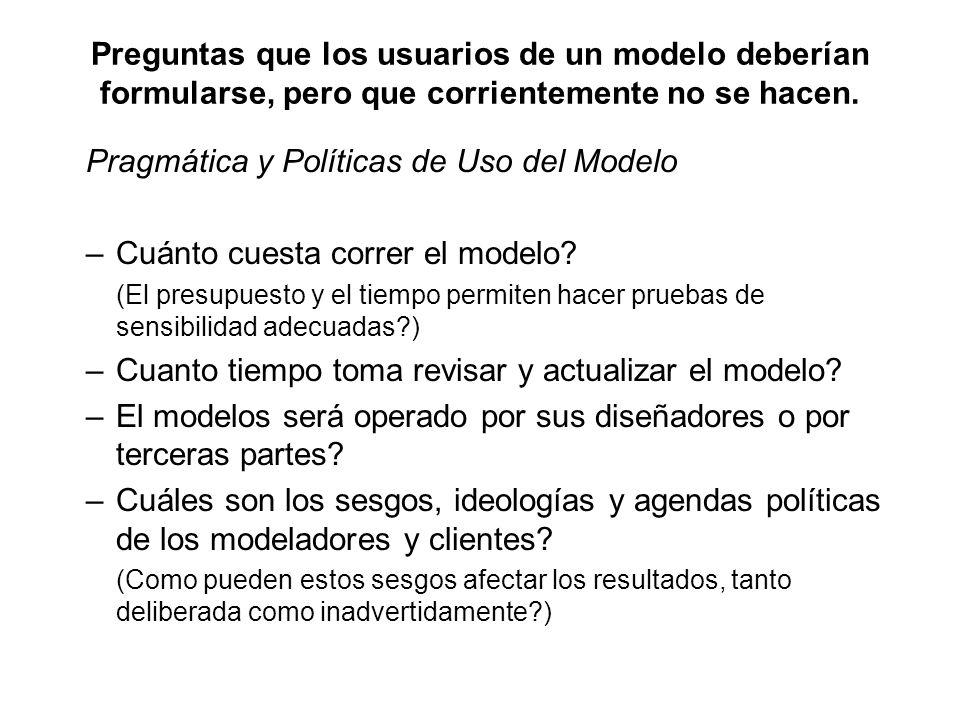 Pragmática y Políticas de Uso del Modelo