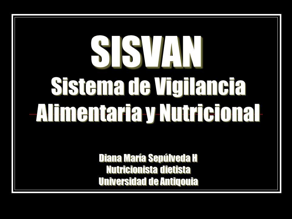 SISVAN Sistema de Vigilancia Alimentaria y Nutricional