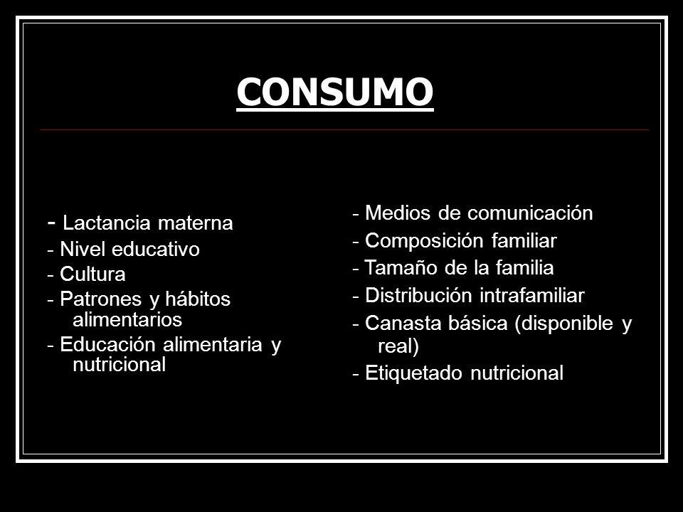 CONSUMO - Lactancia materna - Medios de comunicación